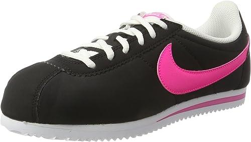 Nike Cortez Nylon (GS), Zapatillas de Running para Mujer, Negro ...