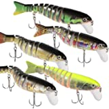 "MJIYA Fishing Lures for Bass 4.9"" Multi Jointed Swimbaits Slow Sinking Hard Lure Fishing Tackle Kits Lifelike"