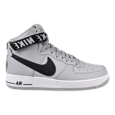 Nike Men's Air Force 1 High '07 Basketball Shoe, Flt Silver/Black-