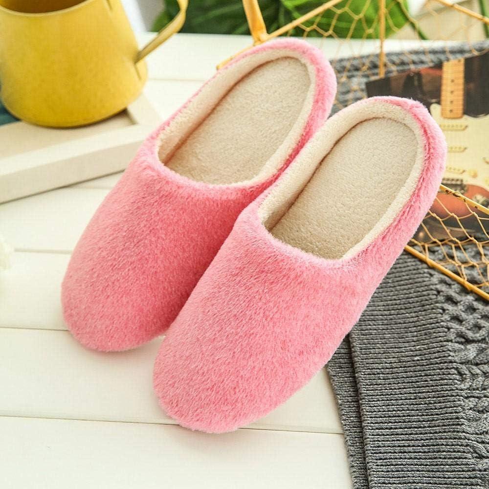 Home Plush Soft Slippers,Oliviavan Women Warm Slippers Indoors Anti-Slip Winter Floor Bedroom Shoes