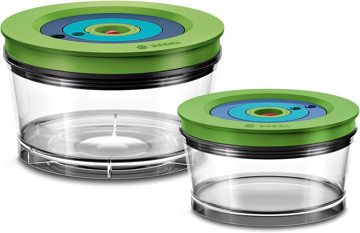 Bosch Hausgeräte Frischhaltedosen für den Vakuum-Standmixer Recipiente hermético para la batidora de vacío VitaMaxx, plástico, Transparente
