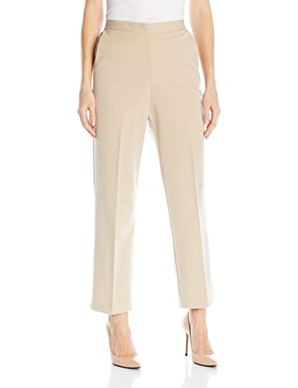 ae6978634ab Alfred Dunner Women s Plus Size Short Length Pant at Amazon Women s  Clothing store