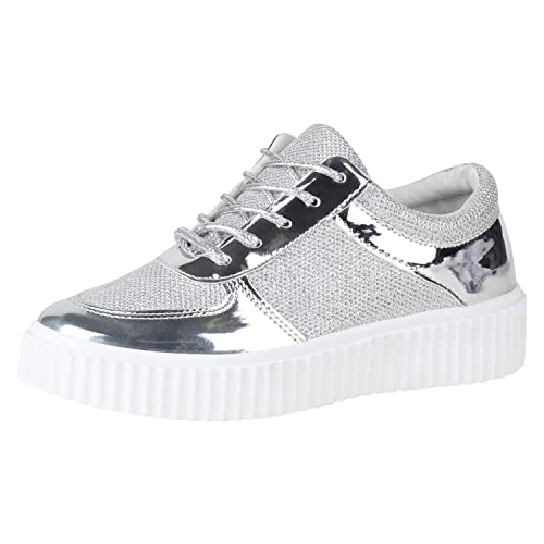 Talla Zapatillas Color Fashion Plateado Amazon Mujer Napoli 40 wnqXPxq