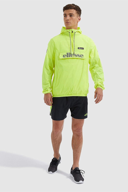 ellesse Berto OH Rain Jacket in Neon Yellow Large 81CRAZxPysLUL1500_