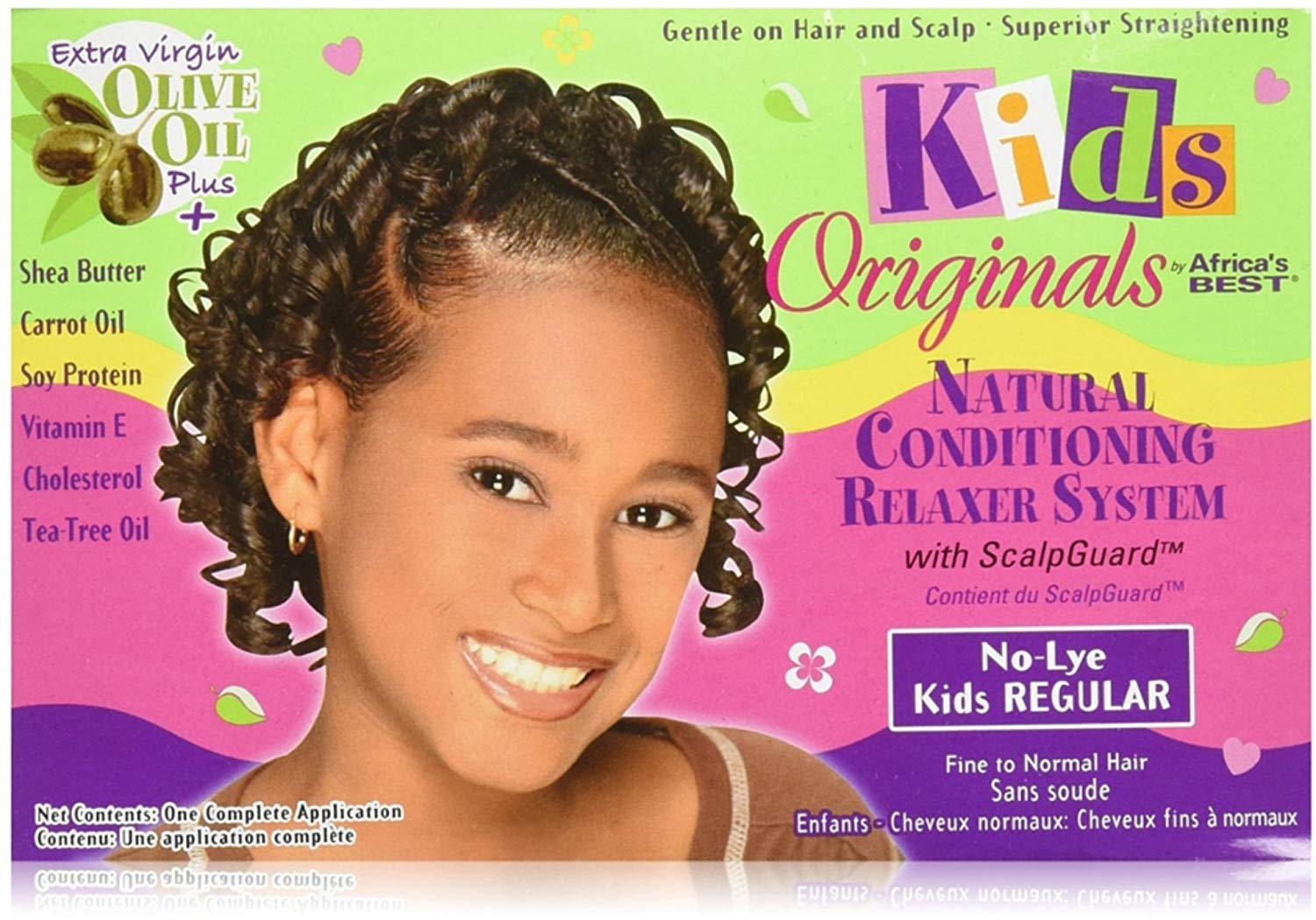 Africa's Best Kids Originals, Natural Conditioning Relaxer System with Scalp Guard 1 Ea (Pack of 7)