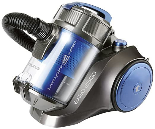 Taurus Aspirador Sin Bolsa Exeo 2500, 800 W, 3.5 litros, 82 Decibelios, Azul