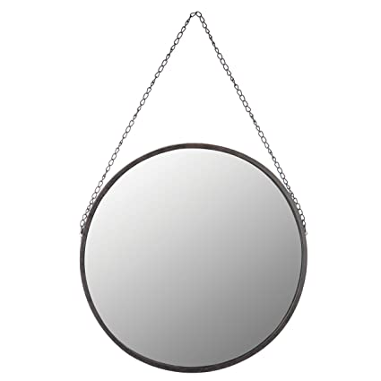 "Amazon.com: Skalny Round Metal Framed Mirror, 18.5"" Diameter: Home ..."