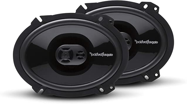 "Rockford Fosgate Punch P1683 6/""x8/"" 3-Way Full Range Speakers 130 Watts"