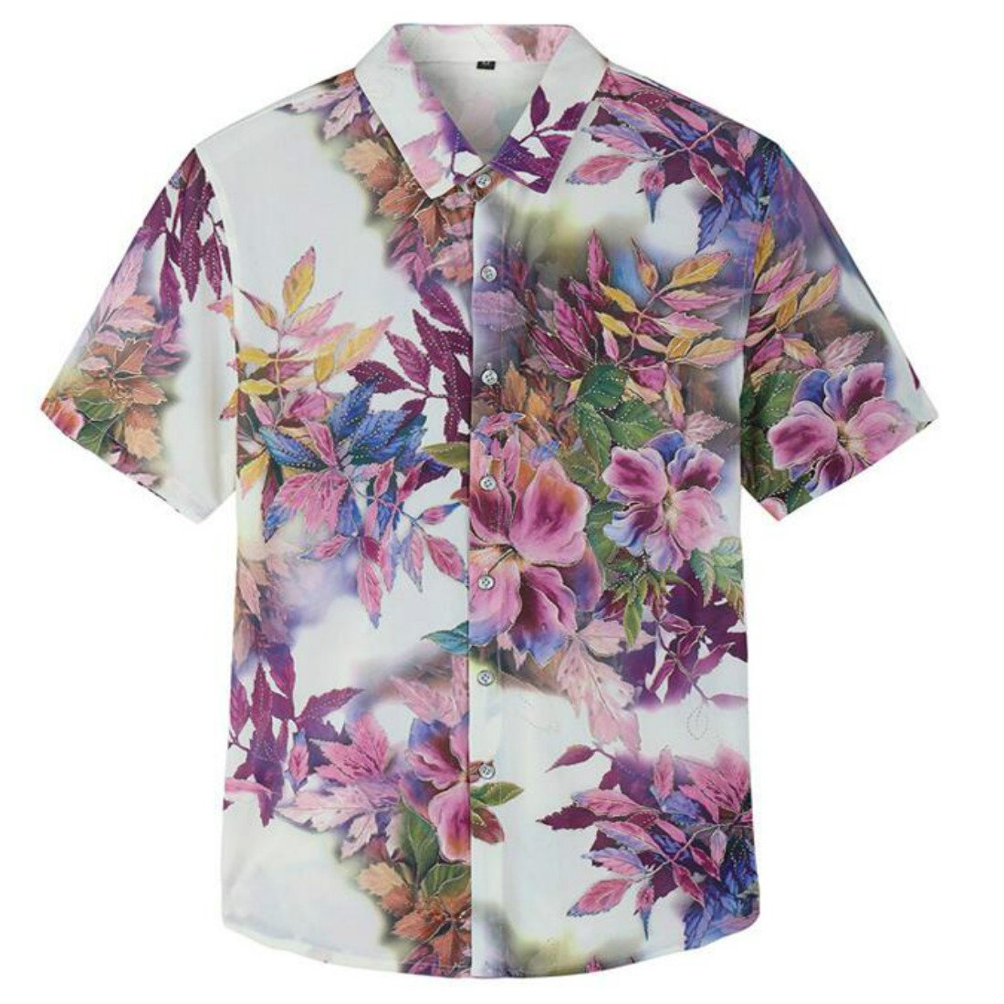 e71de70f9161 This short sleeve hawaiian button shirt is made of good quality fabric,  lightweight,soft and breathable, give you more comfort