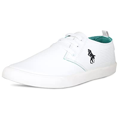 SCATCHITE Mens White Canvas Sneakers and Casual Shoes - 6