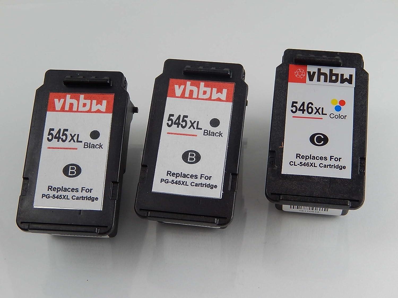vhbw 3X Set de Cartuchos de para Tinta de Relleno para de Impresora Canon Pixma IP-2850, IP2850, MG-2450, MG-2455, MG-2550, MG2400, MG2450 926a18