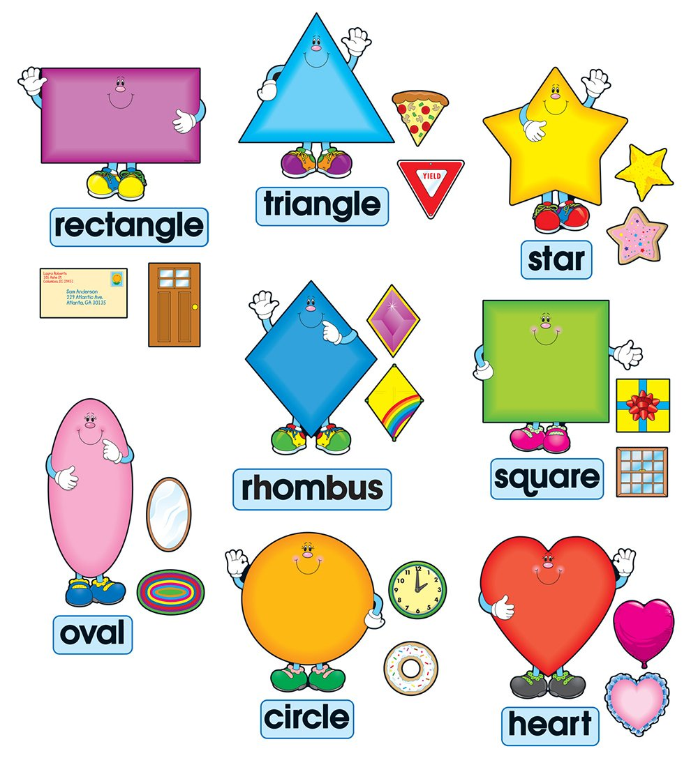 Carson Dellosa 3273 Shapes Bulletin Board Set