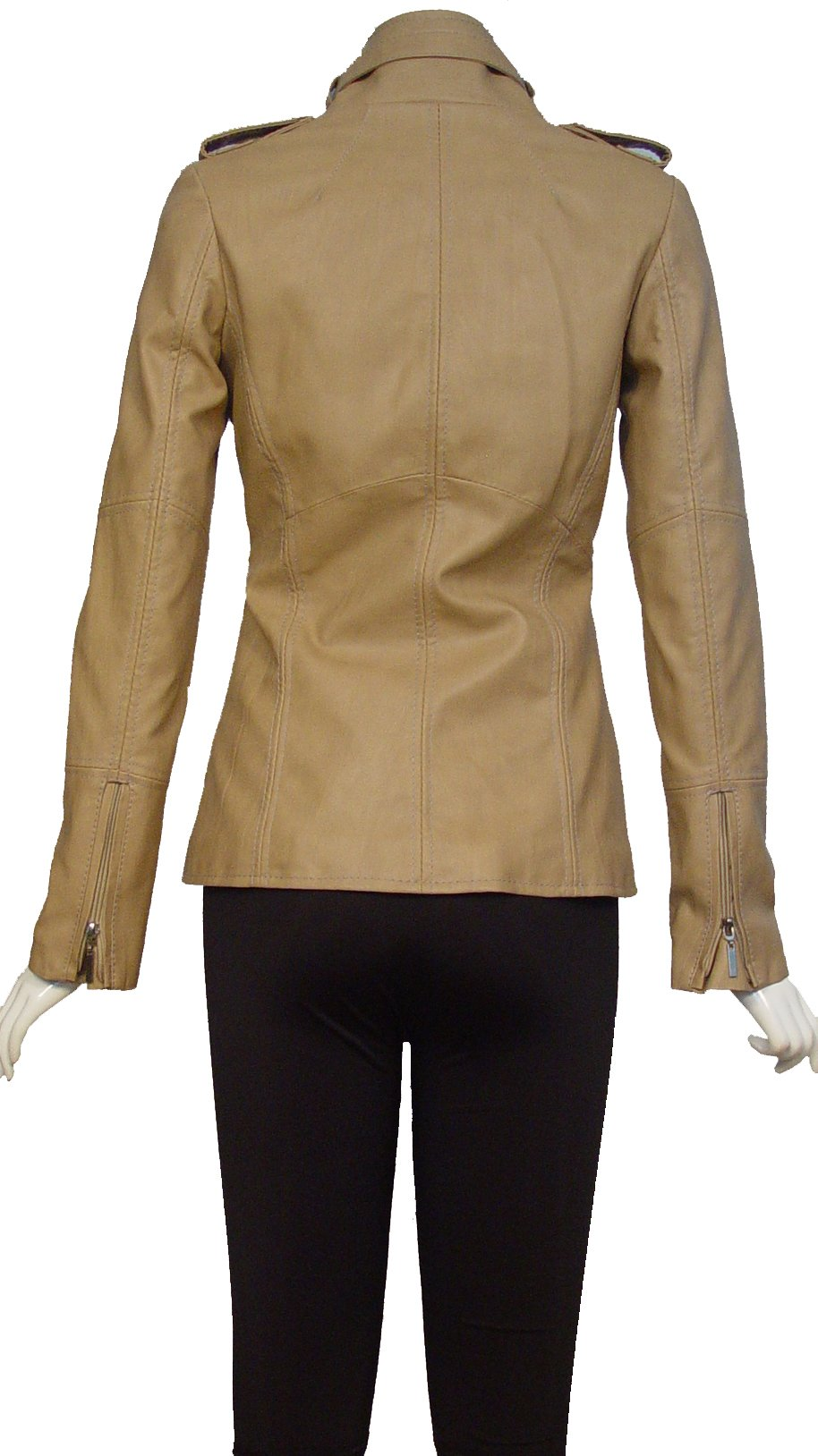 Nettailor 4205 Fine Leather Motorcycle Jackets Ladies Genuine Lambskin by NETTAILOR (Image #7)