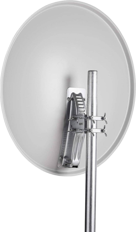 10,7-12,75 GHz 0-90/° Triax TDA 80LG antenne Satellites 10,7-12,75 GHz Gris TDA 80LG 38,5 dBi 25,6/° Gris Offset