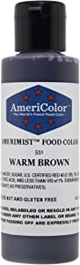 AMERIMIST WARM BROWN AIRBRUSH COLOR 4.5 OZ Cake Decorating Colors