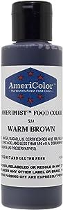 AMERIMIST WARM BROWN AIRBRUSH COLOR 4.5 OZ Cake Decorating Colors