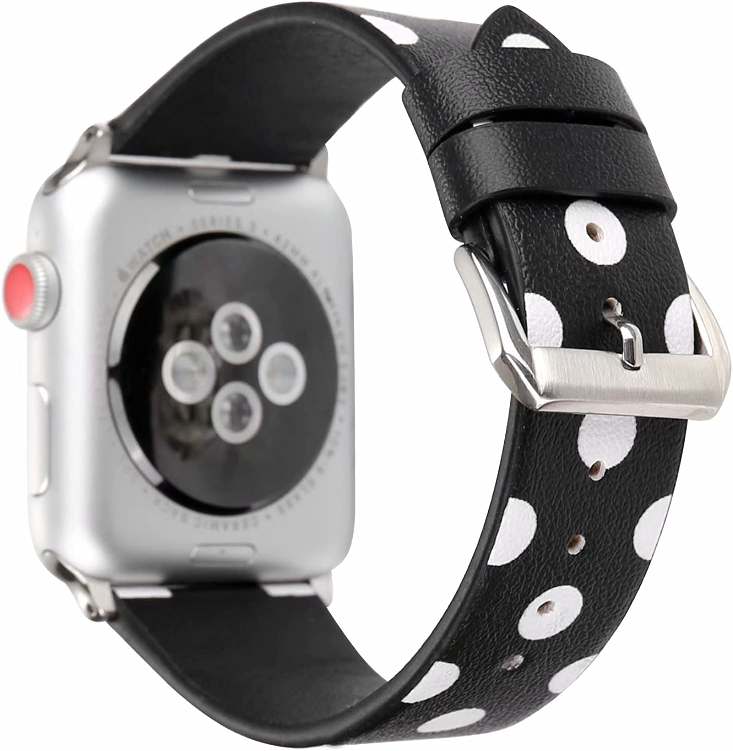 MeShow for Apple Watch Band 40mm/38mm, Polka Dot Style Wristband Watchband Strap Compatible for Apple Watch Series SE/6/5/43/2/1(Not for iWatch 44mm/42mm)