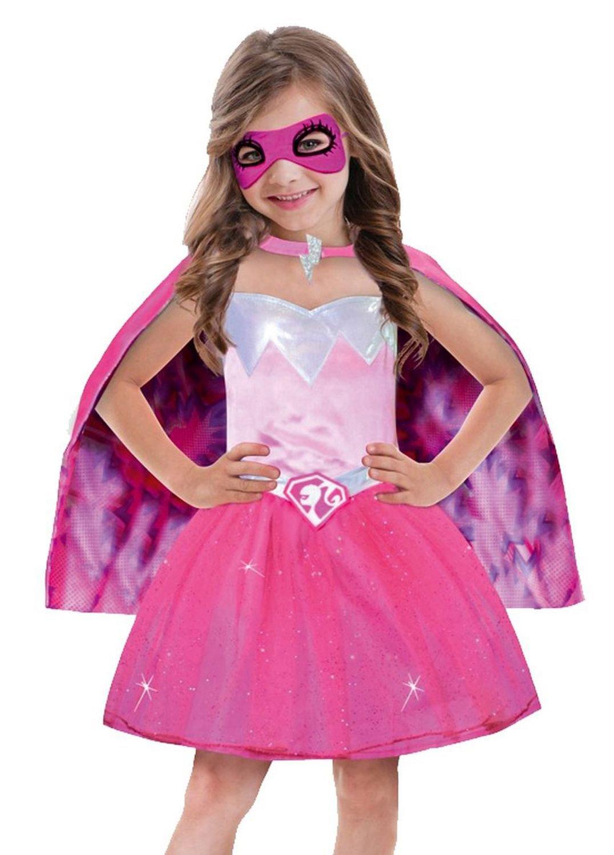 Barbie - Costume Super Principessa, per Bambine