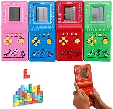 Amazon.es: Kinbelle - Juego de mano Tetris juguetes clásicos de bolsillo con arcada LCD, diseño vintage de ladrillo