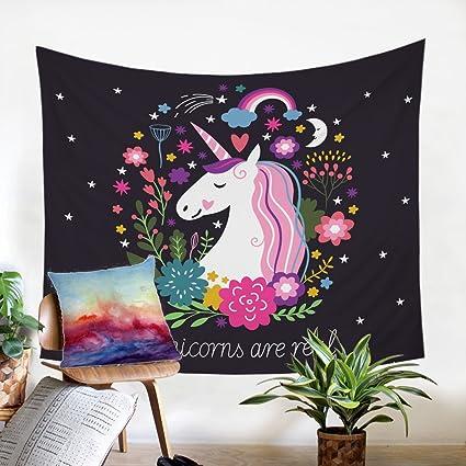 Amazon.com: Sleepwish Unicorn Tapestry Wall Hanging ...