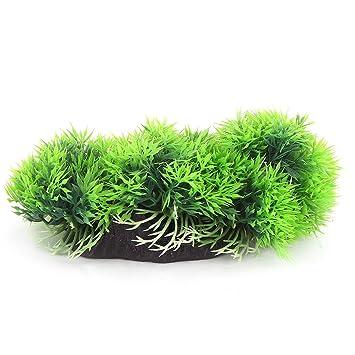 sourcingmap® Plantas peces de acuario tanque de plástico de simulación de agua decoración verde: Amazon.es: Productos para mascotas