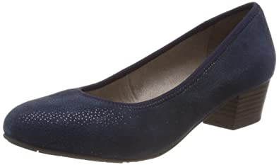 Jana Damen 22200 Pumps, Blau (Navy Struct.), 37 EU