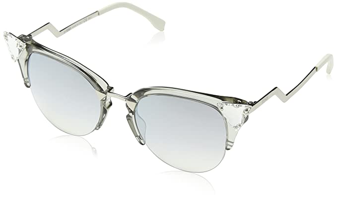 08dcf9eb5b Amazon.com  Fendi Women s Iridia Crystal Corner Mirrored Sunglasses ...