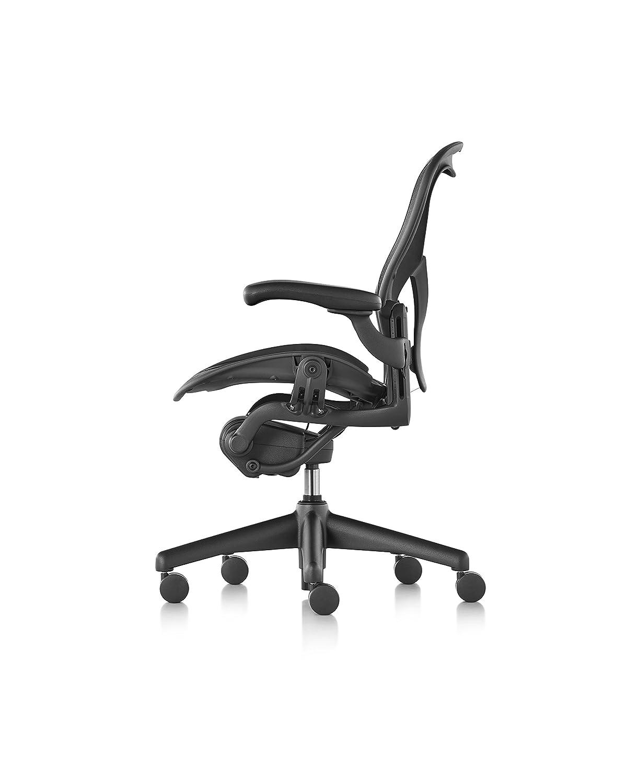 Aeron chair graphite - Amazon Com Herman Miller Classic Aeron Chair Fully Adjustable B Size Adjustable Posturefit Carpet Casters Kitchen Dining