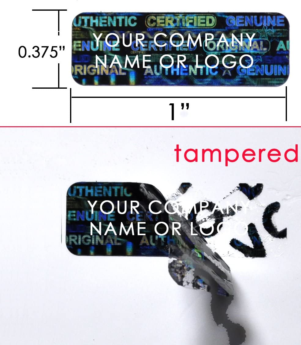 100 1.5 x .5 Inch Matte Unique Numbered Tamper Evident Security Seal Labels