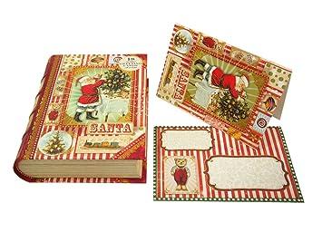 Punch studio christmas santa claus book box holiday greeting cards punch studio christmas santa claus book box holiday greeting cards set of 18 m4hsunfo