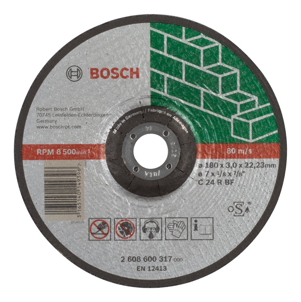 180 mm Bosch 2608600317 Expert for Stone Cutting disc with Depressed Centre