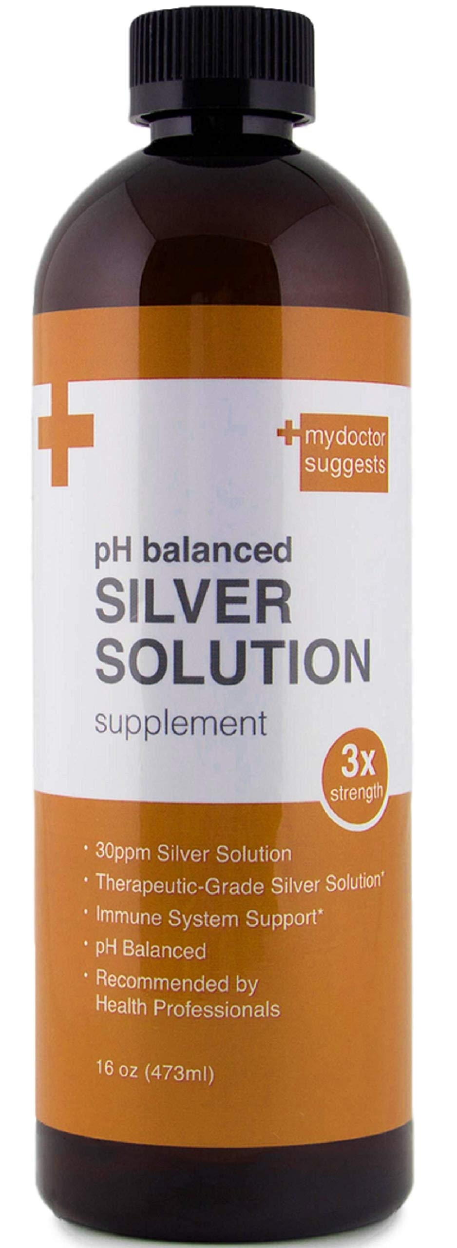 Structured Silver, Liquid Silver Solution pH Balanced 30ppm - Daily Silver Supplement for Immune Health - 16oz Bottle of Colloidal Silver Water by My Doctor Suggests