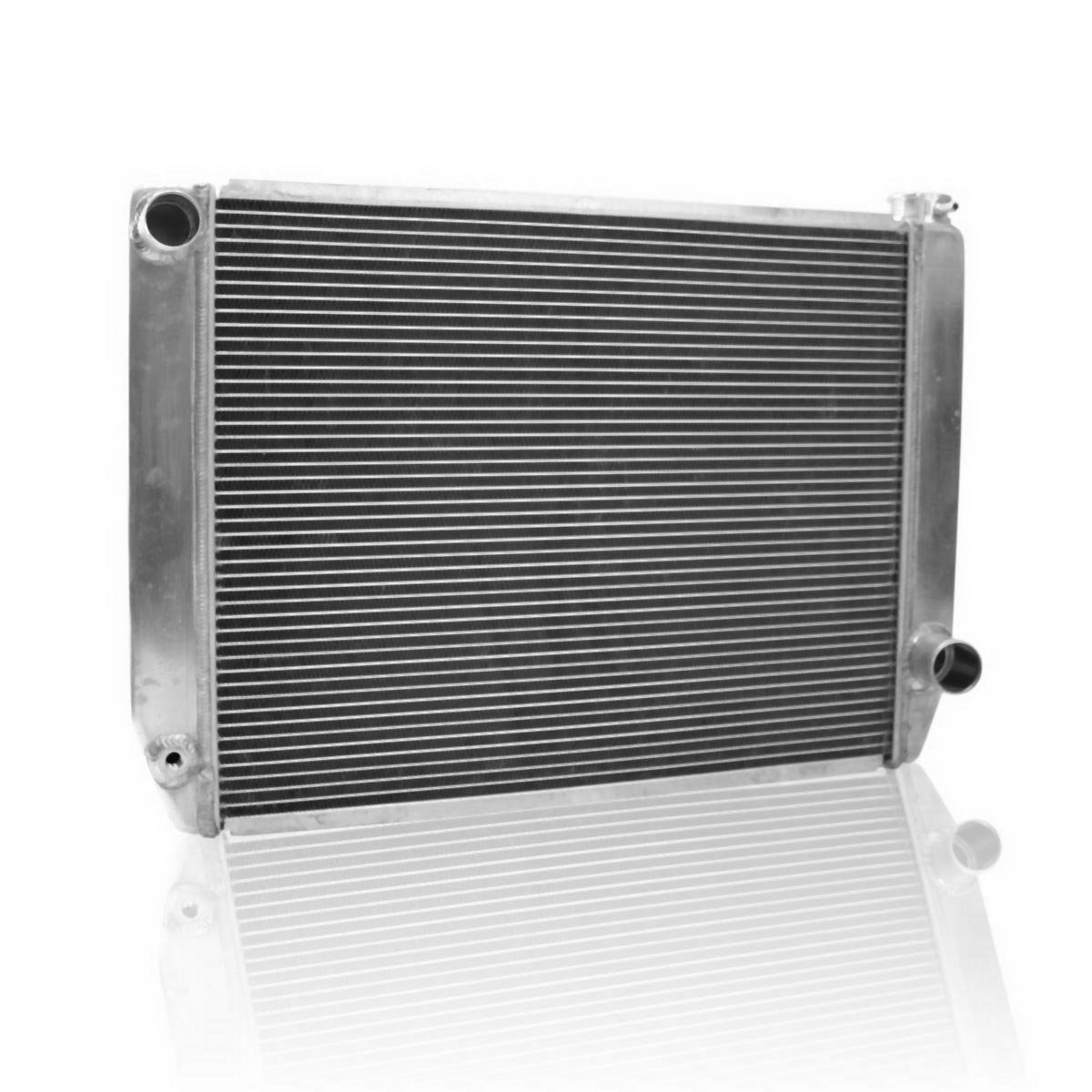 Griffin Radiator 1-25242-X ClassicCool 27.5 x 19 2-Row Universal Fit Radiator with 1 Tube and Top, Left, Bottom, Right Outlets