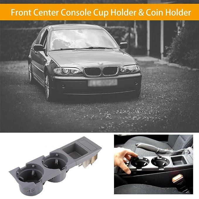 Soporte de la consola central del coche, Interior del auto Consola central del centro Portavasos Porta monedas(Gris): Amazon.es: Coche y moto