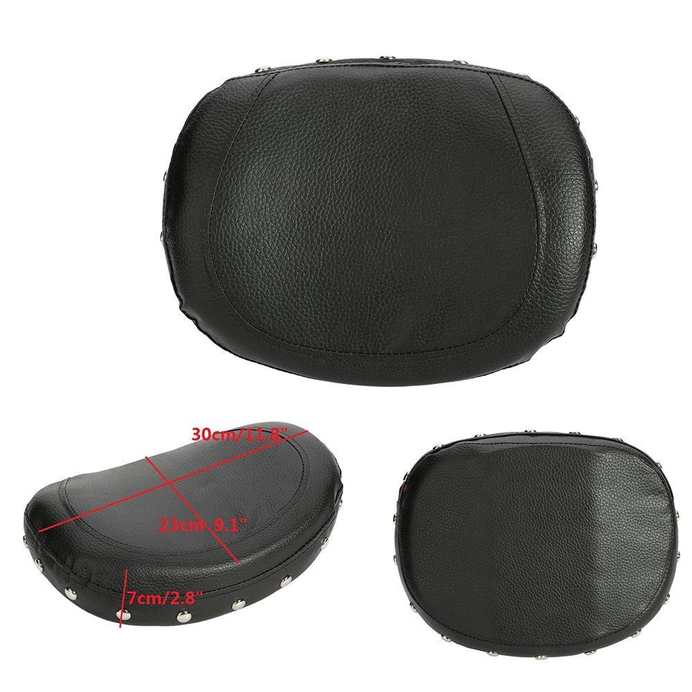 Passenger Rider Backrest ECLEAR Universal Motorcycle Cushion Pad for Harley Chopper Yamaha Honda Suzuki