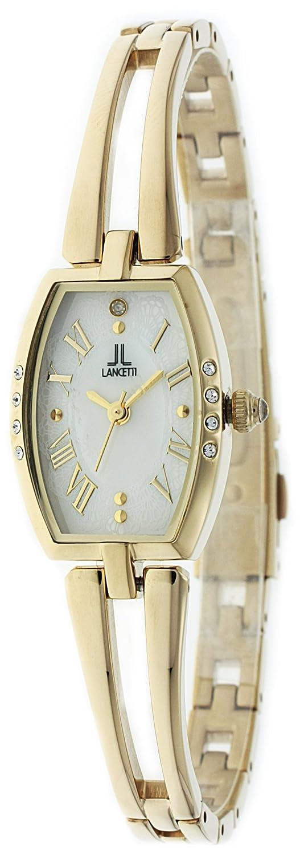 cac09ea1f7 Amazon   [ランチェッティ]LANCETTI 腕時計 天然ダイヤモンド 三針 LT-6205G-WH レディース   国内メーカー   腕時計  通販