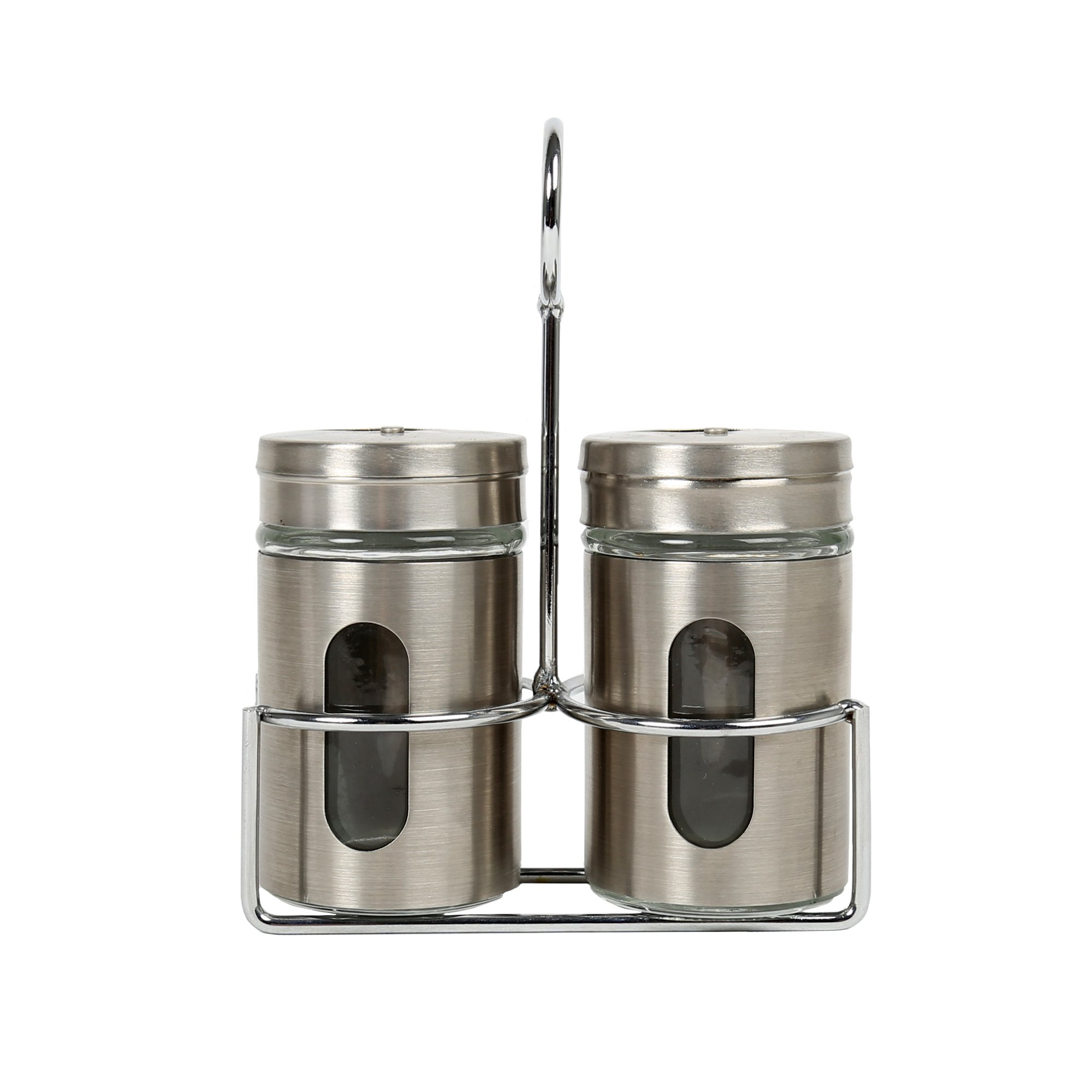 Luciano, Stainless Steel Salt and Pepper Set, 5.75 inches, Silver