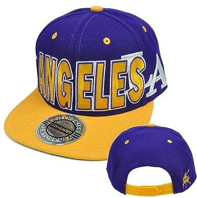 Los ángeles LA California City Hunter EE. UU. Flat Bill gorra ...