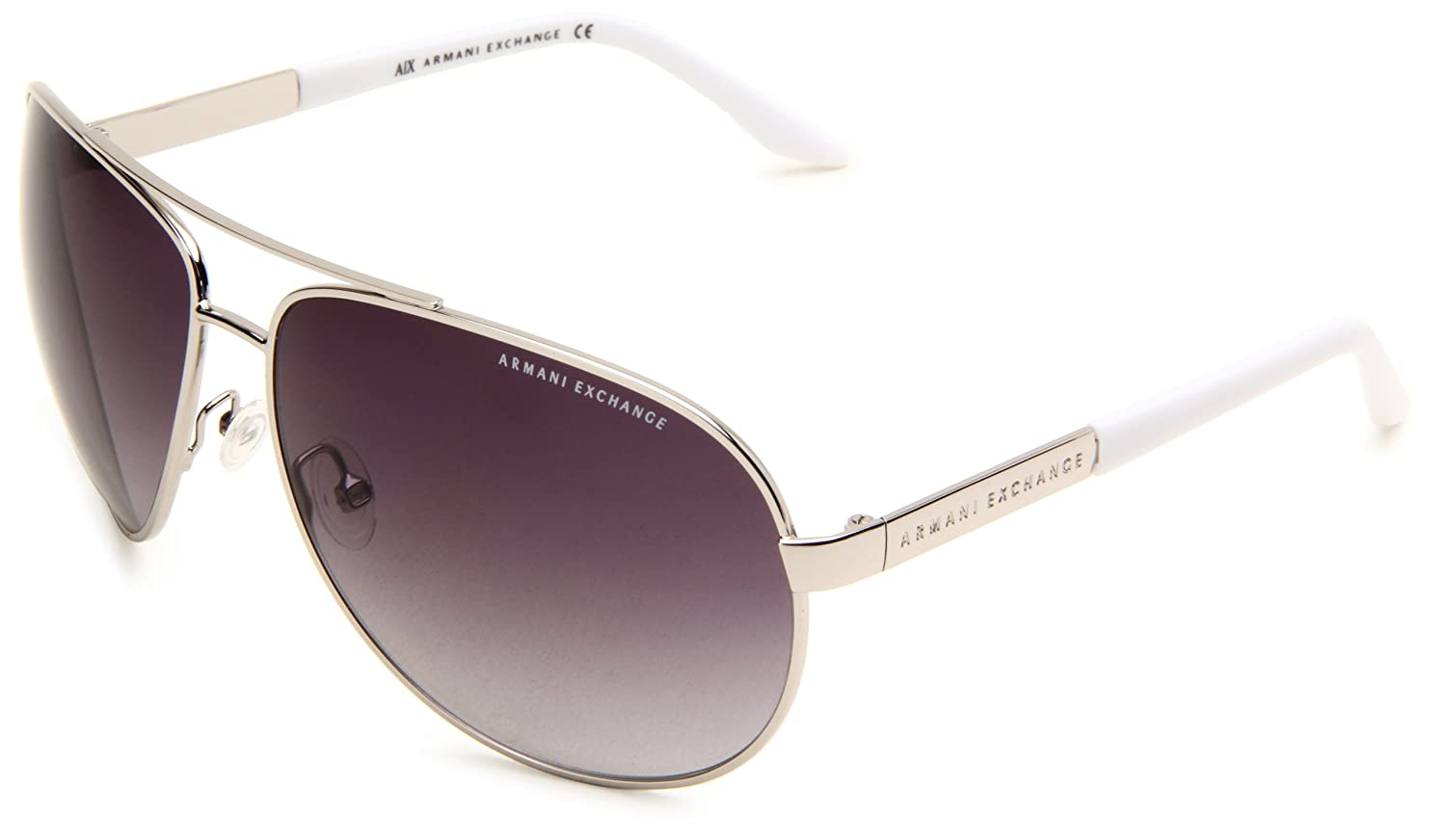8386e85a279bf Armani Exchange AX150 S Aviator Sunglasses