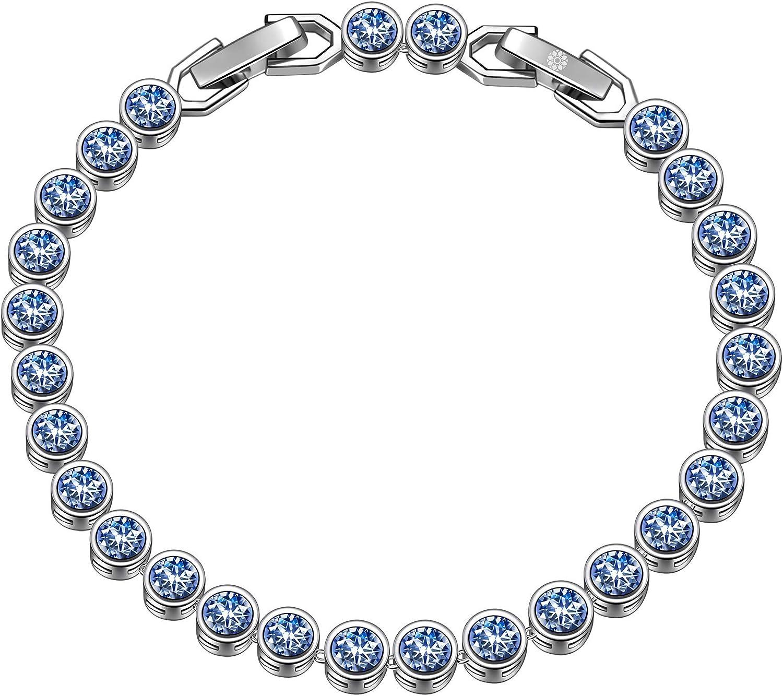 ladies tennis bracelet silver bracelet cz bracelet valentines gift gifts tennis style Crystal kisses ladies bracelets