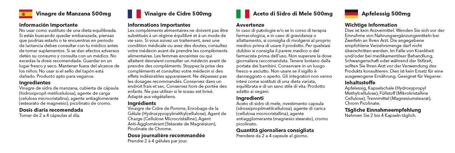 Vinagre de Manzana 500 mg - Hasta 3 meses de suministro - Favorece la pérdida de peso - SimplySupplements: Amazon.es: Salud y cuidado personal
