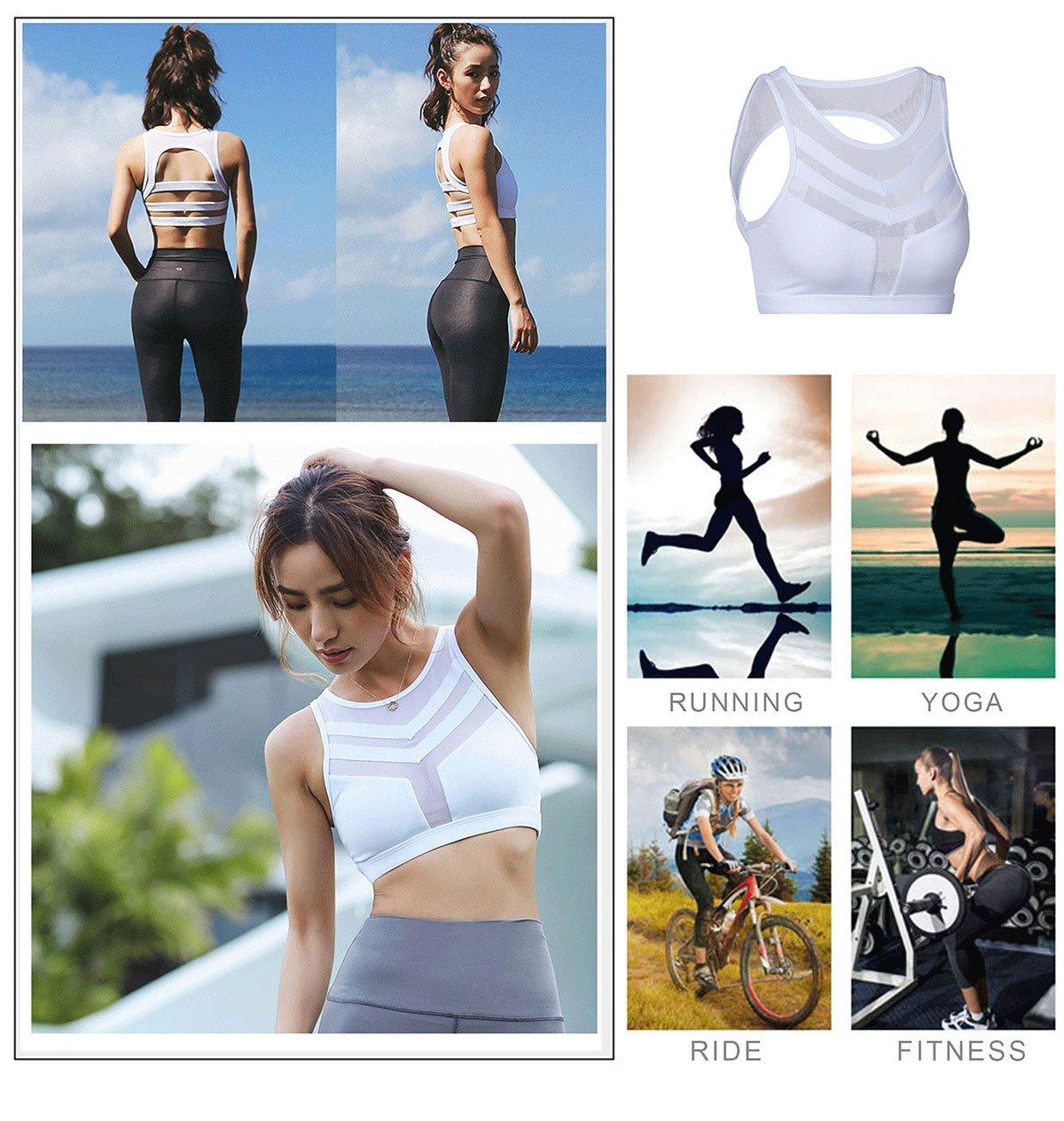 Light&Leaf Women's High Impact Padded Open Back Yoga Sports Bra Crop Tank Top by Light&Leaf (Image #4)