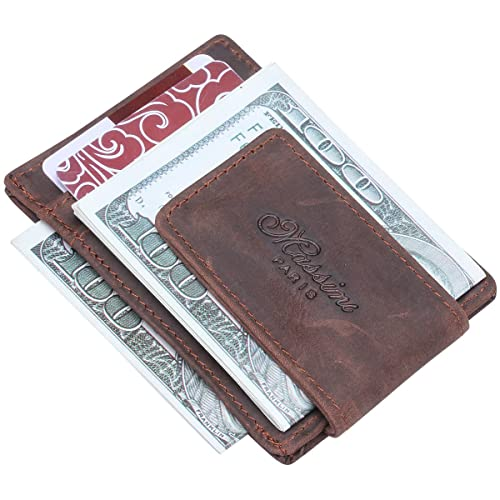 54abcce686a26 Image Unavailable. Image not available for. Color  Win Income Genuine Crazy  Horse Leather Wallet Purse ID Credit Card Holder ...