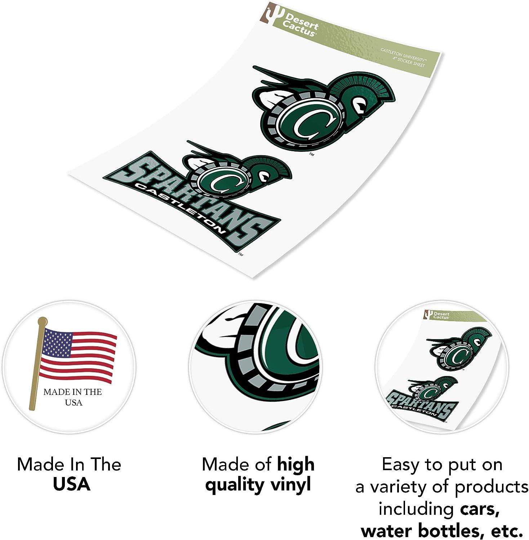4 Inch Set Castleton University Sticker Vinyl Decal Laptop Water Bottle Car Scrapbook