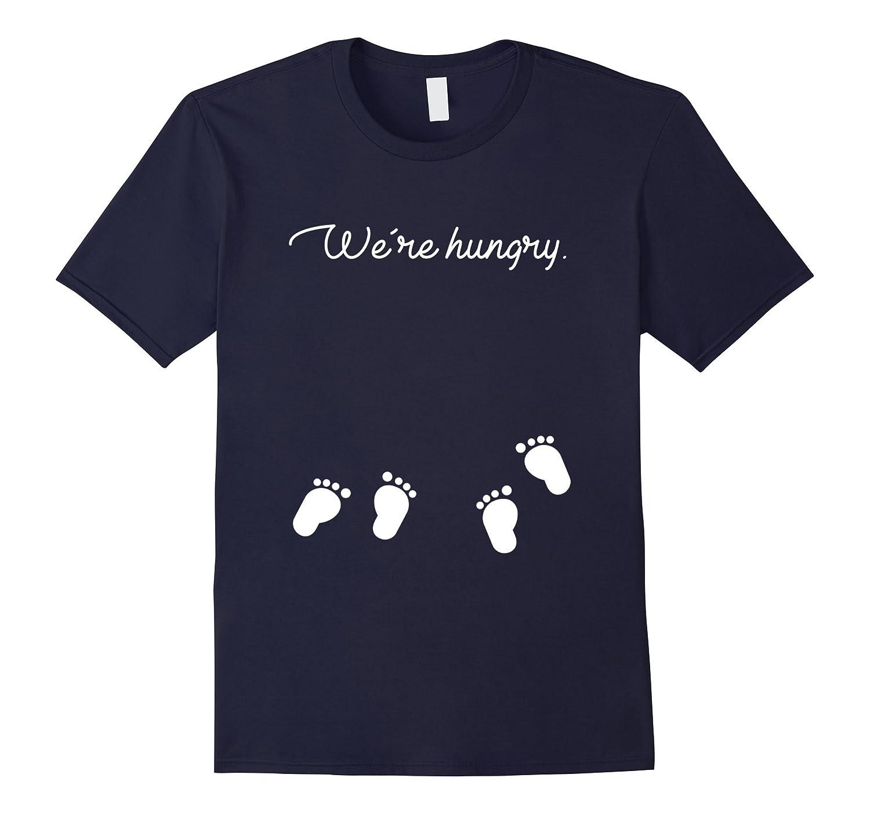 Thanksgiving Twins Pregnancy Announcement T-shirt Gift-ANZ