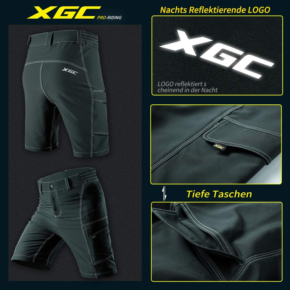 XGC Mens Cycling Shorts Cycling Shorts Breathable Sports MTB Shorts for Men
