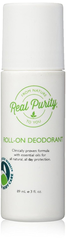 Desodorante roll-on, 3 onzas l_quidas (89 ml) - Pureza real: Amazon.es: Belleza