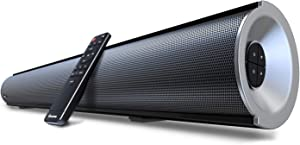 """2.1 Channel Bluetooth Sound Bar with Built-in Dual Subwoofer Wohome TV Soundbar 38-Inch 80W 6 Drivers 105dB Remote Control (S28 38"""" 6 Driver)"""