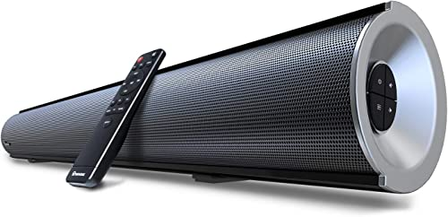 Soundbar, Wohome TV Sound Bar with Built-in Subwoofer and Bluetooth 38-Inch, 80W, 6 Drivers, 105dB, Deep Bass, Remote Control, Wall Mountable,4 Equalizer Modes, Deep Bass, Model S28