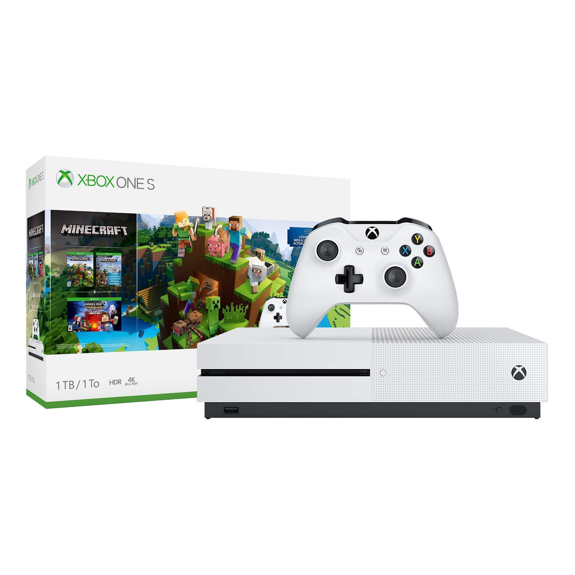 Xbox One S 1TB Console – Minecraft Bundle (Renewed) by Microsoft (Image #2)